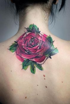 Rose Tattoo By Peter Aurisch