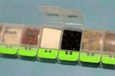 Great for camping! Store spices in pill containers.