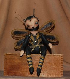 PUBLISHED STEAMPUNK DOLL, Dragonfly~http://www.etsy.com/shop/robinseeber, Prims magazine May 1st
