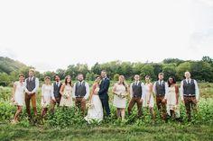 Tennessee Farm Wedding  wedding party blush bridesmaids dresses Green Door Gourmet  tealephotography.net