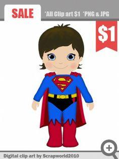 superhero superman boy clipart