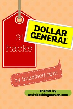 Want to be crafty and looking for a deal?  Look no further than this list of Dollar General Hacks!  I love #17 Click here:  http://www.buzzfeed.com/twopoodles/brilliant-dollar-store-hacks-9g24?sub=2426279_1370484#4kvyfh4