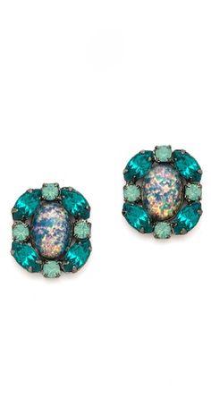 sparkly teal fashion, dannijo tobi, dannijo earring, style, tobi earring, accessori, spark, jewelri, earrings