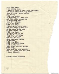 Typewriter Series #899 by Tyler Knott Gregson *It's official, my book, Chasers of the Light, is out! You can order it through Amazon, Barnes and Noble, IndieBound or Books-A-Million *