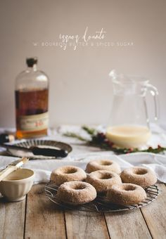 eggnog donuts with b