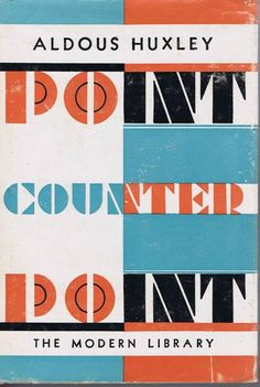 Vintage Art Deco Cover Design Point Counter Point by Huxley
