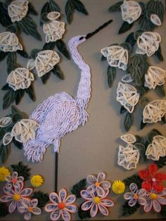 Bird in a garden - Quilled Creations Quilling Gallery
