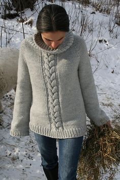 Ravelry: Top down Cozy Weekend Sweater. pattern by Amanda Lilley