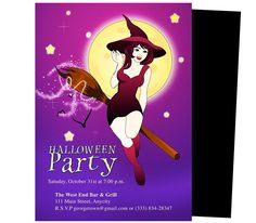 Enchanted Halloween Party Templates. Printable DIY template edit in Word, Publisher, Apple iWork Pages, OpenOffice.