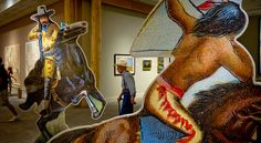 At the Buffalo Bill Museum in Cody, Wyoming a showdown between history and myth