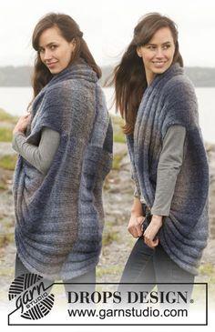 "Knitted DROPS jacket in ""Verdi"". Size: S - XXXL. ~ DROPS Design"