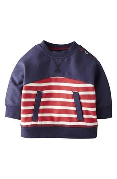 Mini Boden 'Hotchpotch' Pullover (Baby Boys) | Nordstrom