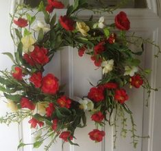 Red Poppy Delight Artificial Door Wreath Wreaths For Door,http://www.amazon.com/dp/B00JHMO0R6/ref=cm_sw_r_pi_dp_kTvztb19Q2AZKC04