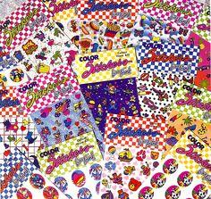 Lisa Frank stickers!