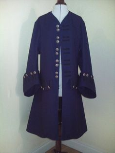Pirate Jack sparrow regency frock coat stage costume by MillyMaybe, $130.00