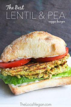 The Best Lentil and Pea Veggie Burger — The Local Vegan™ | Official Website