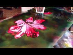 Flowers spray paint art