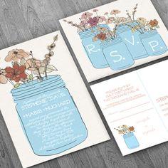 mason jar folk floral rustic burlap neutral diy by HerebySkye