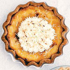Coconut Lime Custard Pie | SAVEUR