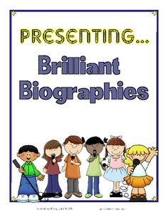 Biography ideas for presentations $2.50 @Hilary Lewis @hilary35t