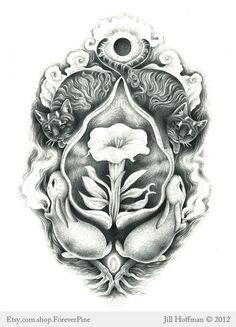 Goddess Freya symbolism Norse Mythology Print by ForeverPine