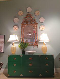 2012 Fall Market Trend: kelly green regency chest of drawers by Parker Kennedy (inside C.R. Laine Showroom) 310 N. Hamilton St. #hpmkt #stylespotters