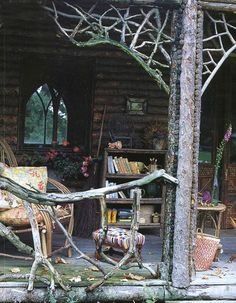 wood country porch
