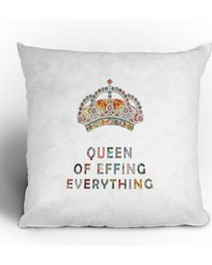 The perfect gift for the diva in your life! Get it here: http://www.bhg.com/shop/deny-designs-bianca-green-her-daily-motivation-throw-pillow-p50dedfd3e4b090b2eb741dcb.html?mz=a