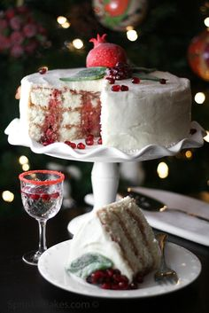 Pomegranate Christmas Cake...