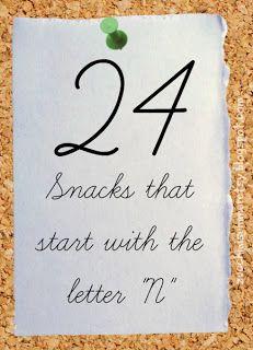 """Zucchini Summer: 24 Letter """"N"""" Snacks"""
