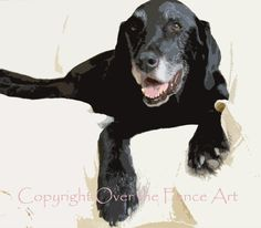 Labrador Holiday Card Sets of 5 Handcrafted by overthefenceart, $18.00