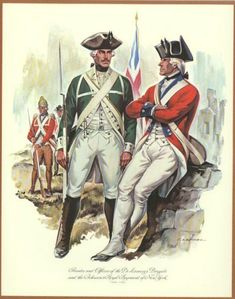 Privates and Officers of De Lancey's Brigade and Johnson's Royal Regiment of New York 1776 - 1783