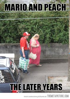 Mario and Peach...