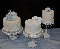 Ice Blue Bridal Shower Cakes
