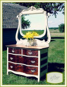 Our Prairie Home: Antique Oak Dresser {Reveal}