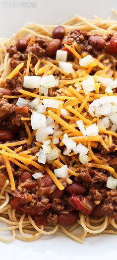 Skinny Cincinnati Chili http://www.skinnymom.com/the-supper-club-by-skinny-mom/