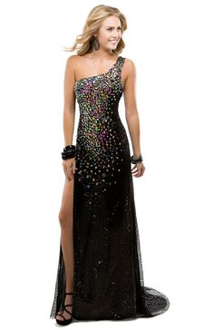 Chiffon lined sequin dress | Flirt #flirtprom #prom #dress #lbd