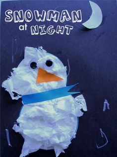 Snowman at Night (book and craft)