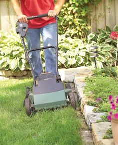 Bury stones to make a mow strip    If you're building a fence, a retaining wall or a planter, set a course of protruding stones in the soil beneath it. That way, your mower can cut all the grass—no trimming by hand needed. The stones should protrude about 4 in. from the wall and stand at least an inch above the soil so grass doesn't creep over them. You will still have to pull out grass from between the stones occasionally.