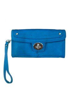Royal Blue Zip Clutch Wallet by Brand