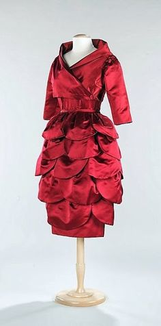 ~Mainbocher Cocktail Ensemble - c. 1955 - by Mainbocher  (American, 1890-1976) - Silk - The Metropolitan Museum of Art~