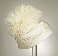 1948, America - Woman's Hat by Holmes Department Store, Sally Victor - Silk twill, ostrich feathers
