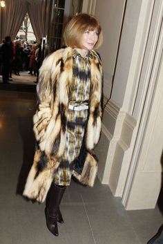 Anna Wintour in fitch coat
