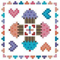 The Floss Box | Biscornu 407 Pdf pattern