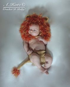 Crochet Little Lion Hat and Diaper Cover Photo by CrochetItBaby, $5.00