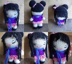 Momo-Chan Doll - Free Amigurumi Pattern here: http://mythinginmyroom.tumblr.com/post/25221759889/momo-chan-pattern