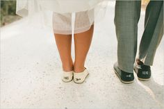 his and her Toms shoes for wedding - cute
