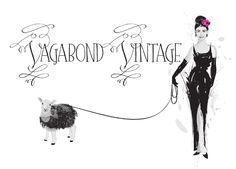 Logo for Vagabond Vintage.  See more: http://onepartscissors.com/2011/08/vagabond-vintage-logo.html