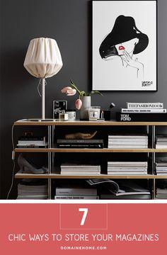 Stylish Ways to Store Magazines