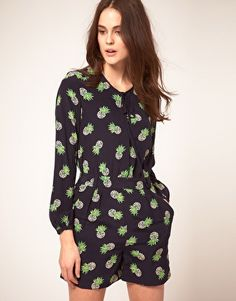 Whistles pineapple print playsuit. I've been sniffing around this since it came out. It's bonkers but I really love it.